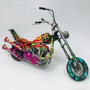 E.m. Zax- Hand Painted Metal Sculpture Harley