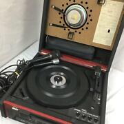 Victor Pae-210c Turntable Record Player W/ Microphone Vintage Japan