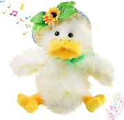 """Houwsbaby 12 Stuffed Duck Music Animated """"you Are My Sunshine"""" Singing Toy"""