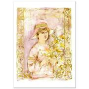 Flora Limited Edition Lithograph By Edna Hibel