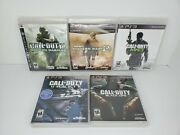 Call Of Duty Ps3 Bundle Modern Warfare 1 2 3 Ghosts Black Ops Excellent Shape
