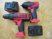 Snap On Complete Kit Set Of Impact Wrench And Hammer Drill Brand New