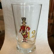 Vintage Twelve Days Of Christmas 8 Oz Glass - Day 12 Drummer Drumming Only