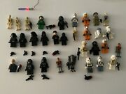 Huge Lot Lego Star Wars Minifigures With Weapons 31 Figures Plus Light Up Saber