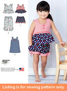 Sewing Pattern - Sew Girl Clothes Clothing - Tank Top Dress Pants Toddler - 1118