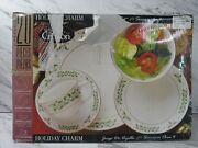 Gibson Holiday Charm 20 Piece Christmas Dinnerware Set Dishes 4 Place Settings