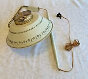 60's Toleware Lamp Wall Mount Counterweight Adjustable Pull Down Hanging Light