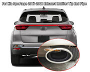 For Kia Sportage Kx5 2017-2021 Stainless Polished Muffler Exhaust Tip Finisher