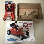 Nomura Toy Tin Toys Shaking Classic Car With Box Battery Operated Showa Japan