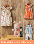 Sewing Pattern - Sew Girl Clothes Clothing - Romper Dress Shirt Toddler - 8347