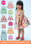 Sewing Pattern - Sew Girl Clothes Clothing - Dress Shirt Playsuit Toddler - 6944