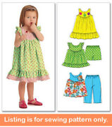 Sewing Pattern - Sew Girl Clothes Clothing - Dress Tank Top Shorts Toddler 5835