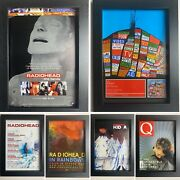 Radiohead - Vintage Framed Press Adverts 33x24cm - Ok Computer The Bends + More