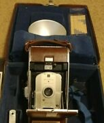 First Generation 1940s Vintage Polaroid Model 95 Land Camera W/ Case And Flash