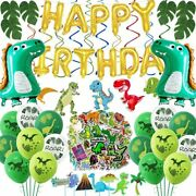Dinosaur Birthday Party Supplies For Kids Party Decoration With Banner Sticker