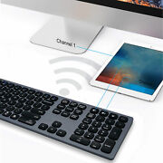 110-key Bluetooth3.0 Keyboard Wireless Ultra Thin Type‑c For Ios Android Windows