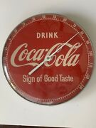 Vintage Authentic 1950s 12 Coca Cola Metal/glass Thermometer