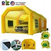 26x13x10ft Inflatable Spray Booth Paint Tent Mobile Portable Car Workstation Aaa