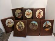 Time-life Books The Old West Series Western Book Lot Of 7 Leather Cover
