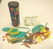 Vintage Tinkertoy Tinker Zoo No 701 1961 90 Pieces Intructions Leaflet  Usa