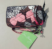 Vera Bradley All In One Wristlet In Mocha Rouge Nwt And Smoke Free Home