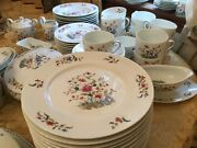 Stunning Set Of Royal Limoges Dinnerware France Adriana Mint 86 Pieces