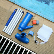 Swimming Pool Vacuum Cleaner With Poles Bags Portable Mini Suction Cleaning Kit