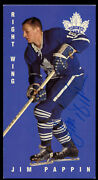 Jim Pappin 123 Signed Autograph Auto 1994 Parkhurst Tall Boy Hockey Card