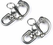 2pack Quick Release Bail Rigging Swivel Eye Snap Shackle Stainless Steel Halyard