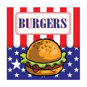 Food Truck Decals Burgers Concession Restaurant Die-cut Vinyl Sticker J6
