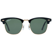 Authentic New Ray-ban Unisex Black Sunglasses Rb3016 901/58 51 51-21-144 Mm