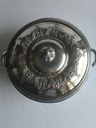 Vintage Forbes Silver Co Serving Bowl And Lid Dish Quadruple 355