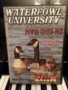 Waterfowl University 1st Base Goose Instructional Dvd Fred Zink Pc-1 Goose Call