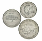 Costa Rica Set Of 3 Coins 1975 Vf-au 25th Anniversary Of The Central Bank 5 ...
