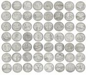 Usa Set Of 56 Coins 1999-2008 States And Territories Of The Usa Unc
