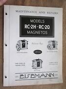 1930and039s Eisemann Rc-2h And Rc-2q Magneto Maintenance Service And Parts List Manual