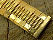Vintage Gemex Nos Unused Watch Band Yellow Gold Filled Expansion 16mm Mens