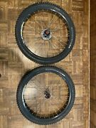 Used Alex Rims Fr30 26' Dh Fr30 With Butcher Dh 26x2.5 Tires