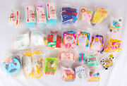 Mcdonalds Happy Meal Toys, Lot Of 24 From 1990s, Nos, Barbie, Furby, Hook +