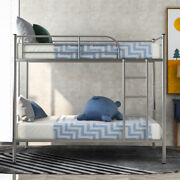 Metal Bunk Beds Twin Over Twin Bunk Beds Mattress Foundation Bedroom Furniture