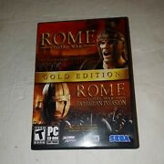 Rome Total War Gold Edition Pc Dvd-rom 4 Discs And 2 Manuals