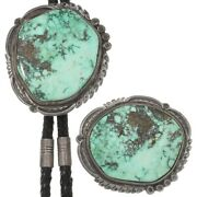 Old Pawn Orville Jack Turquoise Bolo Buckle Set, Navajo Ray Morton Whirling Wind