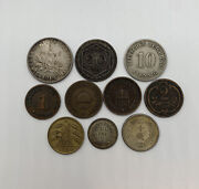 1875-1924 Foreign Coin Lot Of 10 France 1919 Some Silver Nice Rare Coins