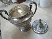 Wallace Rose Point Sterling Silver Tall 7.5 Sugar Bowl And Rare Lid - 398gm