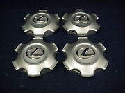 Lexus Gx460 2010-2019 Silver Center Caps - Set Of 4 - Fits The 18 6 Spoke Wheel
