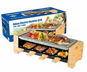 Raclette Table Grill, Electric Indoor Grill Korean Bbq Grill Stone Raclette