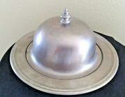 Oneida Pewter Round Butter Dish With Lid 7 1/2