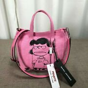 Marc Jacobs Peanuts Snoopy Lucy Shoulder And Tote Bag Crossbody Limited Pink Mini