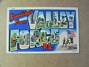 Valley Forge Pennsylvania Pa Large Letter Greetings Curt Teich Revolutionary War
