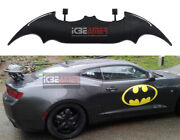 Real Carbon Fiber Batman Style Rear Trunk Spoiler Wing With Led Stop Light R18
